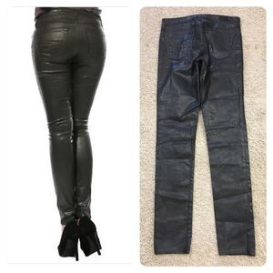 """AG Adriano Goldschmied /""""The Legging/"""" Leatherette Jeans Gray LSN1288 LTR-GRY"""